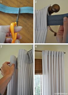 How To Create Neat Curtain Folds | The Painted Hive