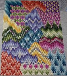 Pattern originally published in Needlepoint Now magazine in 5 installments; reissued as complete pattern.