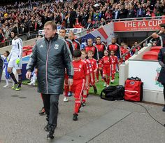 Kenny Dalglish leads the team out for the 2012 FA Cup final against Chelsea