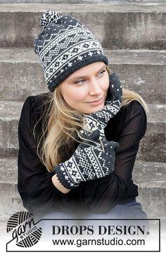 Dagens gratisoppskrift: Winters Night Enchantment Set | Strikkeoppskrift.com Intarsia Patterns, Fair Isle Knitting Patterns, Sweater Knitting Patterns, Knitting Yarn, Knit Patterns, Free Knitting, Baby Knitting, Drops Design, Mens Knit Sweater Pattern