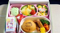 Hello Kitty Airlines In Flight Meal