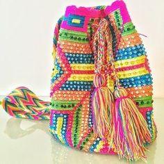 Wayuu Mochila Bag embroidered in Swarovski