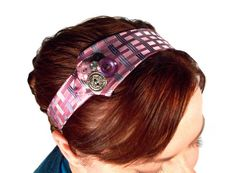 These headbands look so easy to make out of old neckties.  Great idea!