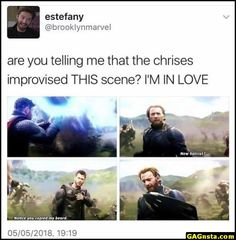 Chris Evans and Chris Hemsworth improvising DC and Marvel new haircut notice you copied my beard - New Hair Cut Marvel Dc Comics, Marvel Avengers, Heros Comics, Marvel Actors, Marvel Heroes, Captain Marvel, Avengers Humor, Funny Marvel Memes, Dc Memes