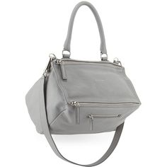 Givenchy Pandora Medium Leather Satchel Bag (£1,435) ❤ liked on Polyvore featuring bags, handbags, pearl gray, leather satchel, accessories handbags, grey leather handbags, gray purse i leather handbags