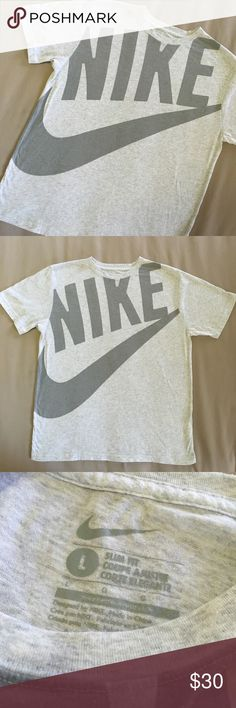 Nike Vintage style SLIM FIT tee Excellent condition. 28 inches long from shoulder top and 23 inches across armpits. Thanks‼️ Nike Shirts Tees - Short Sleeve