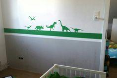 Schablonentechnik, Dinosaurier-Skyline, Jungenzimmer Skyline, Home Decor, Dinosaurs, Stencils, Projects, Decoration Home, Room Decor, Home Interior Design, Home Decoration