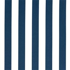 Outdoor Stripes Oxford Blue Fabric by Premier Prints