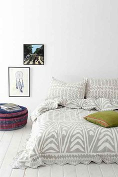 Magical Thinking Hand-Drawn Geo Duvet Cover - Urban Outfitters