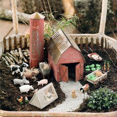 Have you ever seen a fairy garden? It is a miniature garden, a small magical world you can create in a flower pot or garden bed. This project is fun for the whole family. A fairy garden is a combination of a mini garden and an outdoor doll house. Mini Fairy Garden, Fairy Garden Houses, Gnome Garden, Garden Farm, Fairy Gardening, Fairies Garden, Gardening Hacks, Fairy Furniture, Ideias Diy