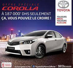 Offre promotionnelle au Maroc : Toyota Corolla Berline à partir de 187.000 DH