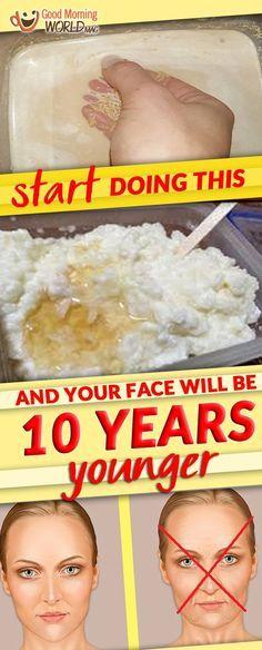 Anti-aging Face mask using Rice
