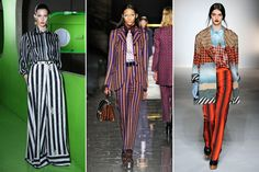 Vertical stripes - are you brave enough to wear them? From Refinery 29.