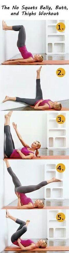 No squat belly & butt workout