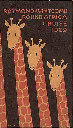 Raymond-Whitcomb Round Africa cruise 1929    brochure, 1929,