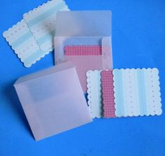 Mini vellum envelopes with notecard  set of 10 by nicegifts, $4.90