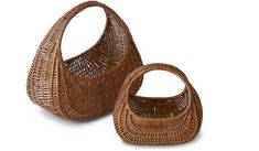 Handwoven willow baskets. Traditional handicraft from Sweden.