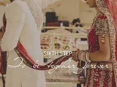 { Sixth round / sixth vow } - the couple asks the gods to give them a blissful life together.