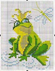 ilustrace k lidových pohádek №65899 Cross Stitch Baby, Cross Stitch Animals, Cross Stitch Charts, Embroidery Art, Cross Stitch Embroidery, Embroidery Patterns, Knit Patterns, Cross Stitch Patterns, Especie Animal