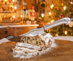 Stollen Cake from Dresden. Stollen Cake, Christmas In Germany, Dresden, Family Meals, Bakery, Bread, Traditional, Tableware, Ethnic Recipes