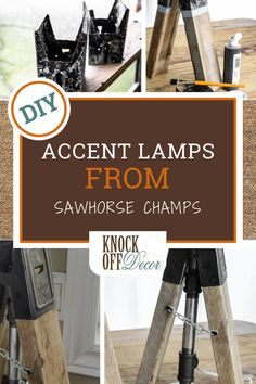 Do you love the look of accent lighting in your home? If you've searched for an accent lamp that is both reasonably priced and attractive in a modern way, then you know that this is a hard item to find, and when you do, it often has an outrageous price tag. Diy House Projects, Easy Projects, Sawhorse Brackets, Knock Off Decor, Diy Kitchen Decor, Accent Lighting, Modern Rustic, Diy Design, House Design