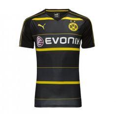BVB Borussia Dortmund 16-17 Udebanetrøje Kortærmet.  http://www.fodboldsports.com/bvb-borusland-dortmund-16-17-udebanetroje-kortermet-1.  #fodboldtrøjer