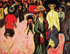 Ernst Ludwig Kirchner -   La Calle. Museo de Arte Moderno. New York. USA.