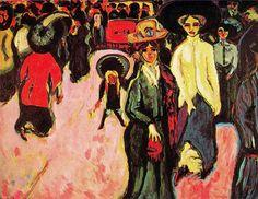Ernst Ludwig Kirchner -   La Calle. Museo de Arte Moderno. New York. USA.