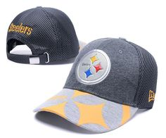 d28216d8e6d76 Men s   Women s Pittsburgh Steelers Liquid Logo 2017 NFL Draft Spotlight  Adjustable Baseball Hat - Graphite