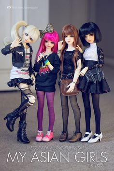 Asian Girls by Sebastián Vargas via Flickr #doll #bjd