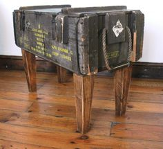 Love this idea from Rachel at handmade charlotte!!!! I found an amazing old army trunk at Goodwill today. I'm going to turn it into a coffee table!