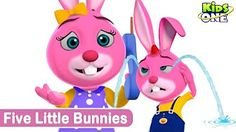 Kids Animation | Five little bunnies | Animated Rhymes | (Repeat Loop) - YouTube
