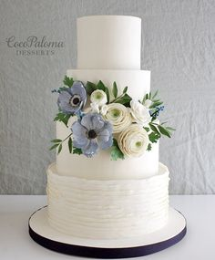 Featured Cake: Coco Paloma Desserts; www.cocopalomadesserts.com; Wedding cakes ideas.