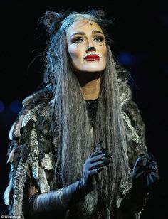 Branching out: Delta has been busy of late, playing the role of Grizabella in one of Andre...