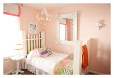 Benjamin Moore Love and Happiness paint, girls room, 1191.  For Stella. With large horizontal gold stripes?