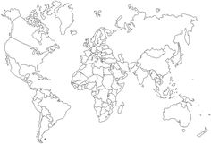 World Map Showing Countries Blank Best Blank Map Of the World with ...