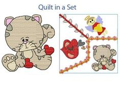 Crazy Love Valentine Kitties Machine Embroidery Designs http://www.designsbysick.com/details/crazylovekitty
