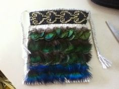 I still have not been able to get the silver yarn for my taniko so I'm putting that one aside for now. I made a little one to get my hand ba. Flax Weaving, Weaving Art, Weaving Designs, Weaving Patterns, Maori Patterns, Maori Designs, Maori Art, Pheasant Feathers, Japanese Textiles