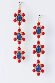 Navy June Earrings