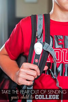 Take the Fear Out of Sending Your Child off to College - the Wearsafe Tag is a discrete personal safety device that communicates with your cell phone when pressed and sends an alert signal and live audio recording to your emergency contacts when you are need of help. #Wearsafe #SaferSmarter #ad