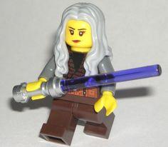 LEGO Star Wars Jedi MINIFIGURE Girl Female Trans-Purple Lightsaber/Long Hair #LEGO Star Wars Jedi, Lego Star Wars, Purple Lightsaber, Lego For Sale, Lego Custom Minifigures, Prince Of Persia, Lego Group, Lego Parts, Cool Lego