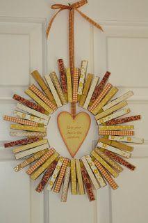 clothespin wreath ... can make for any season/holiday ~ love the sunshine idea ☼