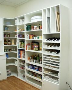 [ Small Pantry Organization Ideas Small Kitchen Pantry Storage Ideas Car Tuning ] - Best Free Home Design Idea & Inspiration Pantry Room, Pantry Shelving, Kitchen Pantry Design, Kitchen Organization Pantry, Kitchen Pantry Cabinets, Diy Kitchen, Kitchen Storage, Pantry Ideas, Wall Organization