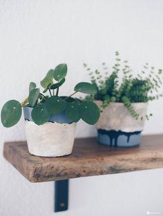 DIY Blumentöpfe Mit Steinoptik Selbermachen   Deko DIY Idee