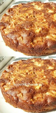Пышный, сочный, ароматный медовый пирог с яблоками для уютного чаепития.