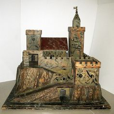 Made by Moritz Gottschalk of Marienberg, Saxony, Germany. This toy fort is not a representation any real fort, and is only a toy - not a model. Wooden Castle, Toy Castle, Antique Toys, Vintage Antiques, Medieval Fashion, Miniature Houses, Monument Valley, Tower, Miniatures