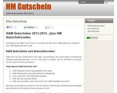 H&M Gutschein 2013-2014 und HM Gutscheincode Sammler. Klicken Sie hier für eine Liste aller HM Gutscheincodes im 2013, z.b -25% H&M Rabattcode für Kleidungsstücke