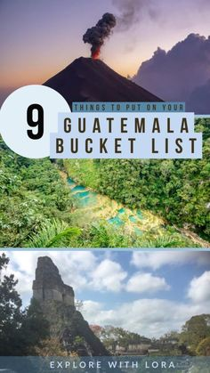 Heading to Guatemala? Get inspired for your trip with 9 of the best ourdoor experiences to have in Guatemala. From volcanoes to hot springs these adventures will make you fall in love with the country. South America Destinations, South America Travel, Travel Destinations, North America, Tikal, Costa Rica, Atitlan Guatemala, Lake Atitlan, Les Continents