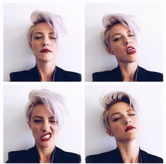 Pixie hair cuts really popular nowadays but this is really hard to get. If you want to try these haircuts, you should check 20 Best Long Pixie Cuts pictures. Short Blonde Haircuts, Short Hair Cuts, Short Hair Styles, Dark Roots Blonde Hair Short, Short White Hair, Pixie Cut Blond, Long Pixie, Pixie Cuts, Pixie Hairstyles