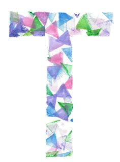 T comme Tampon Triangle Alphabet, Art Lessons Elementary, Floral Tie, Triangle, Symbols, Letters, Quilts, Blog, Tampons